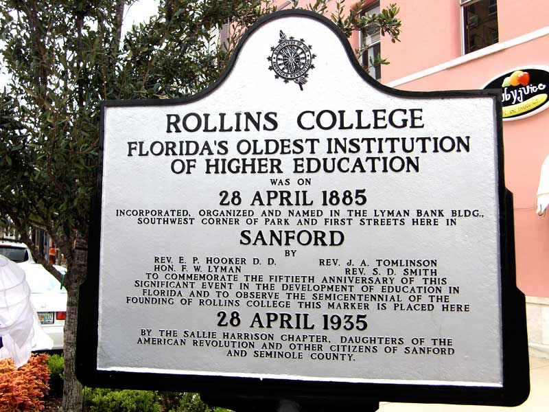 Day 54 – Rollins College was incorporated and named in Sanford