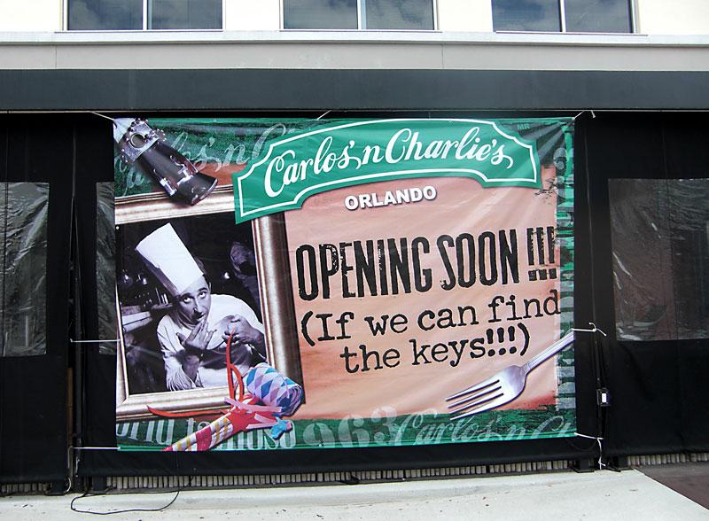 Day 179 – Carlos n Charlies opening at Colonial Town Park Lake Mary