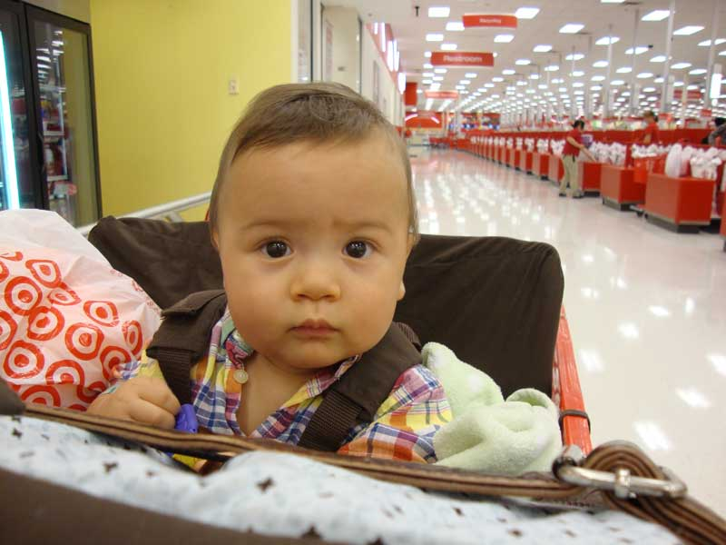 Picture of My Day – 27 – The First Shopping Cart Ride