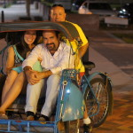 A ride in the pedi cab at Downtown Sanford Small World