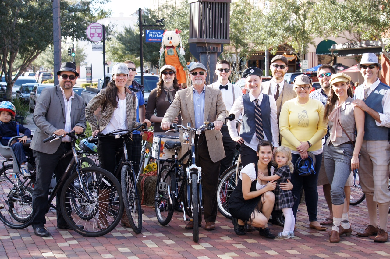 Pictures of the First Annual HSS Tweed Ride in Sanford FL